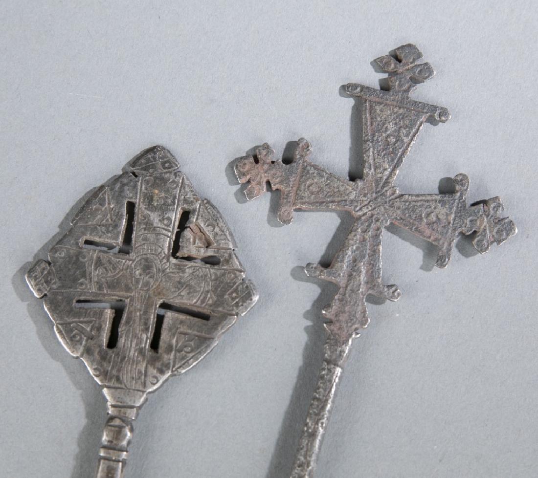 2 Coptic style crosses. c.20th century. - 5