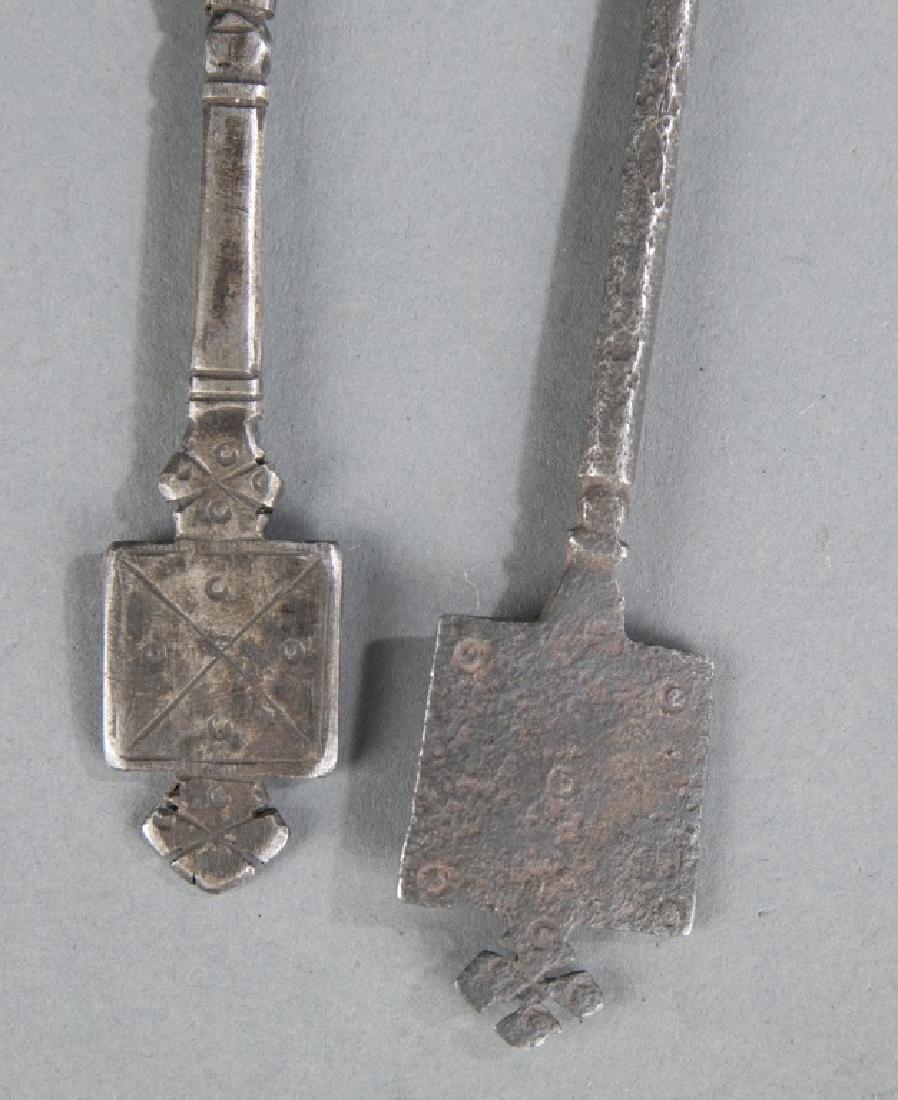 2 Coptic style crosses. c.20th century. - 6