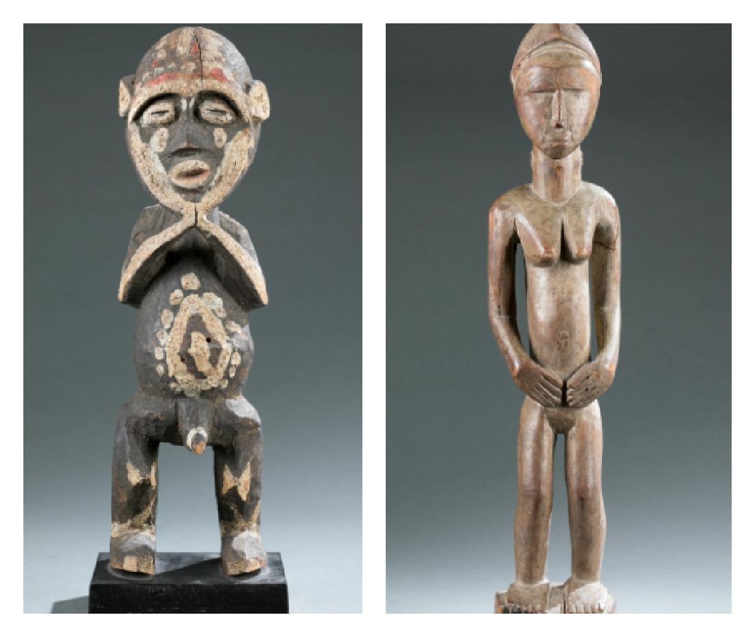 2 West African figures. c.20th century
