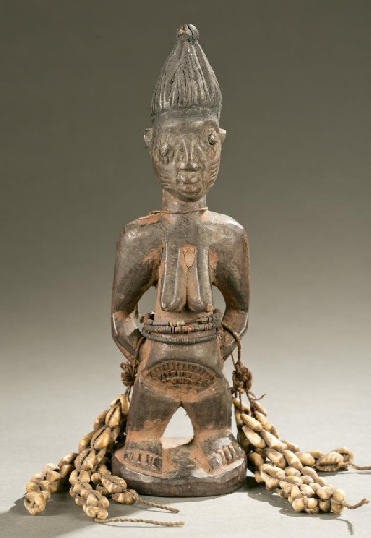 Yoruba female Ibeji figure, 20th c.