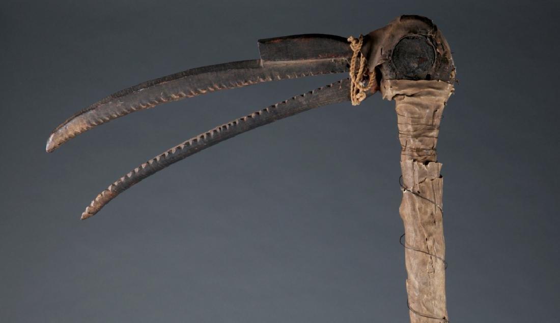 A hornbill dance staff. - 2