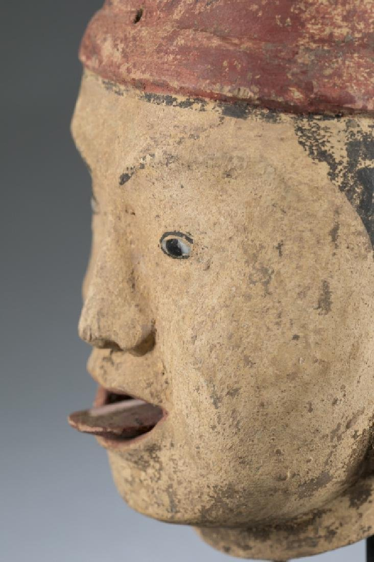 A Myanmar traditional wooden male puppet head. - 4