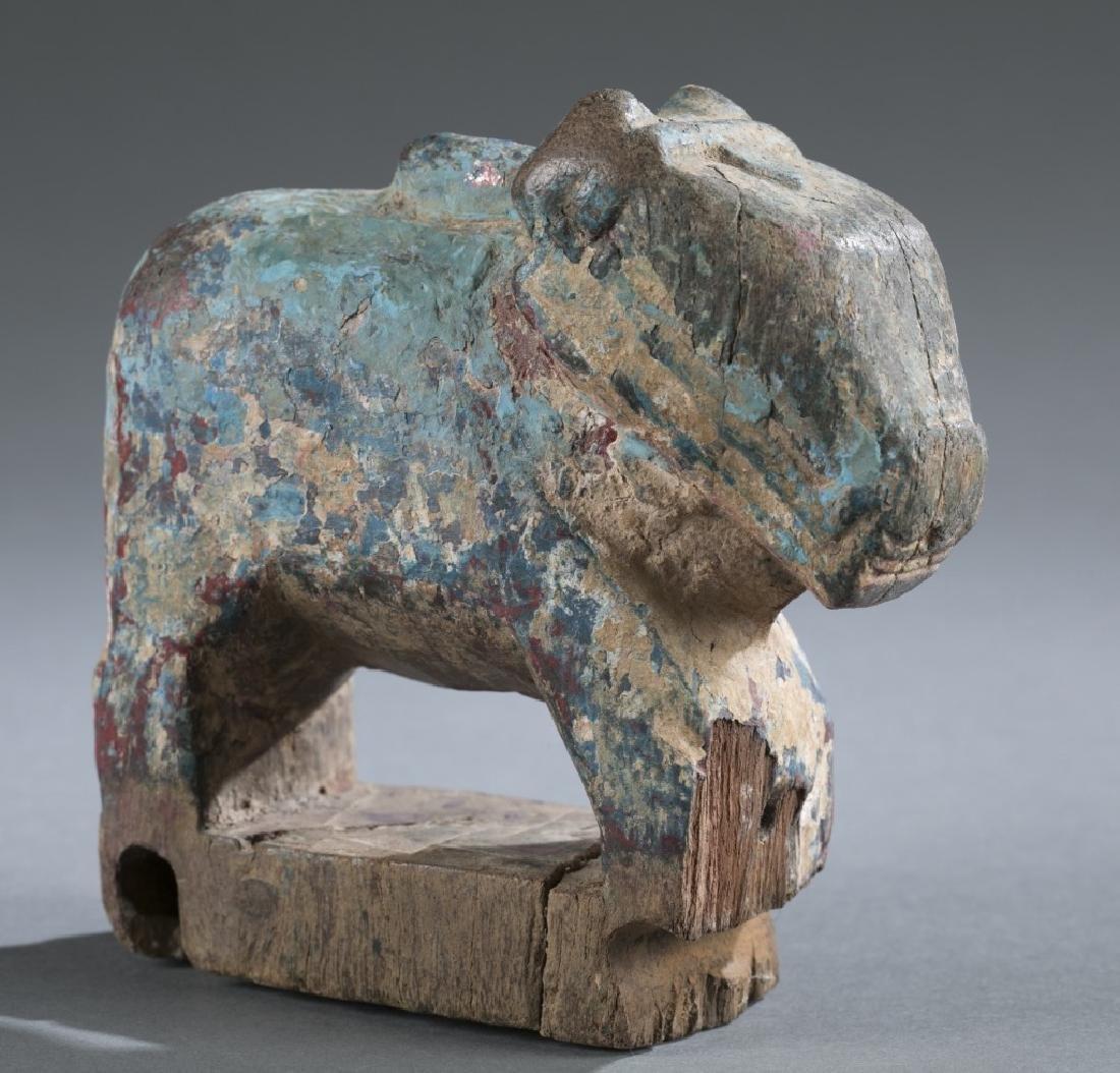 Teak wooden animal toy, 20th century.