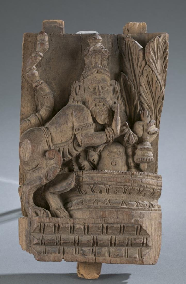 Architectural wood carving, 19th century.