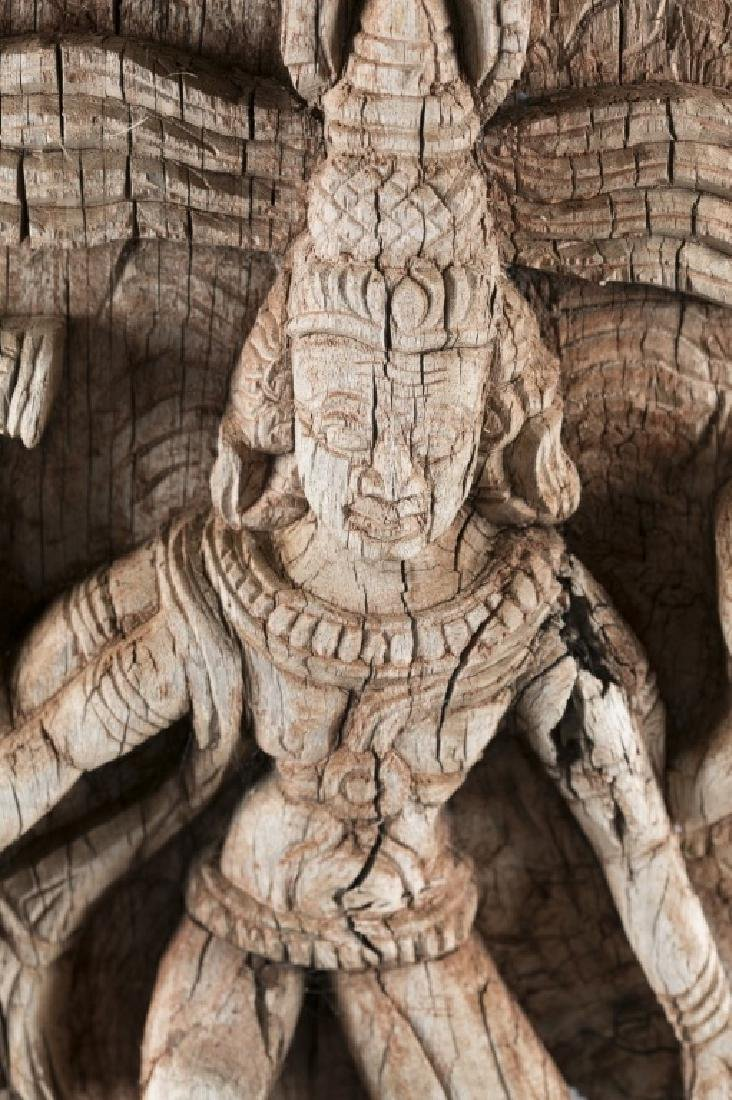 Carved wooden relief sculpture - 2