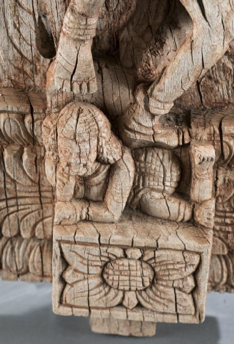 Carved wooden relief sculpture - 3