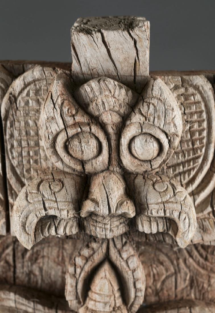 Carved wooden relief sculpture - 4