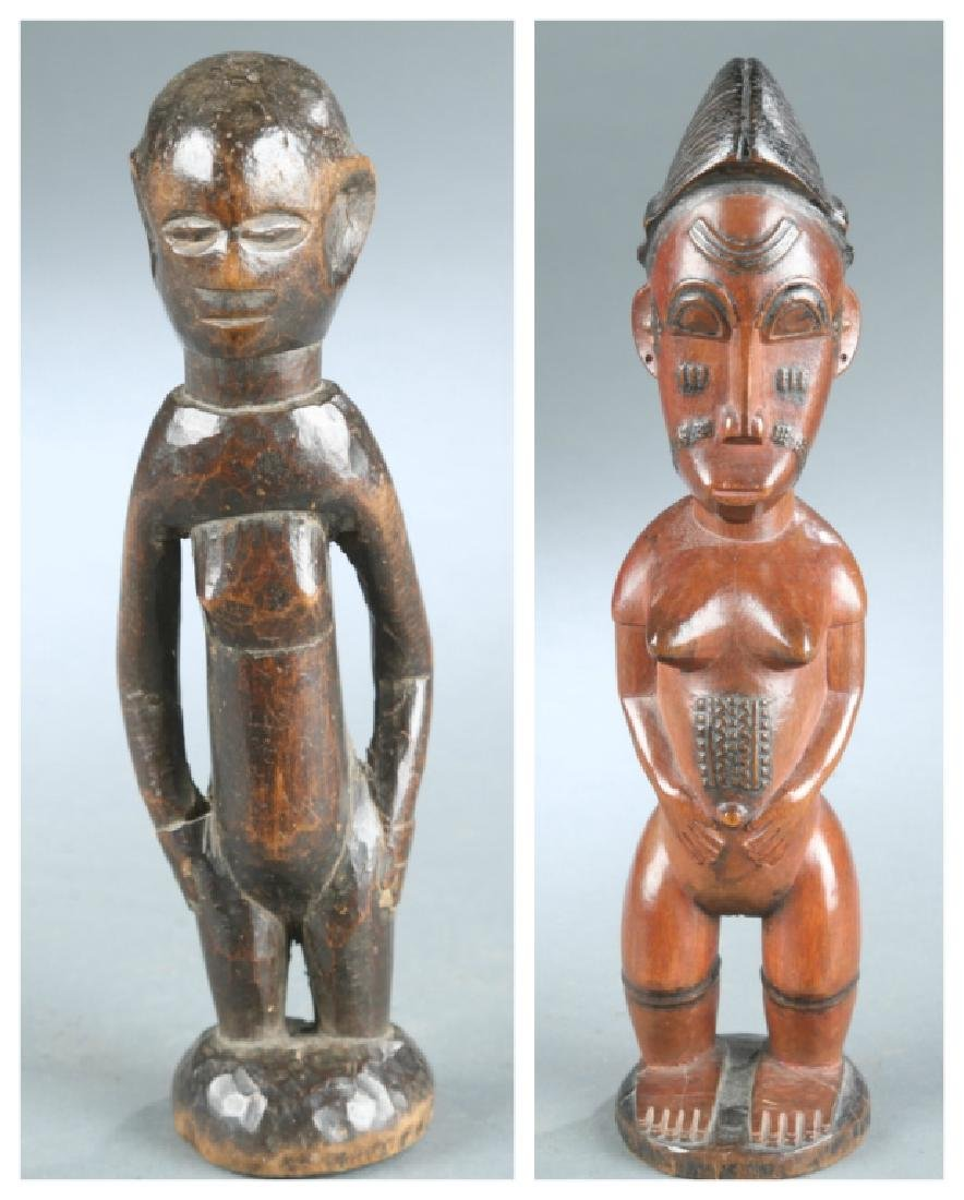 2 West African figures, 20th century.