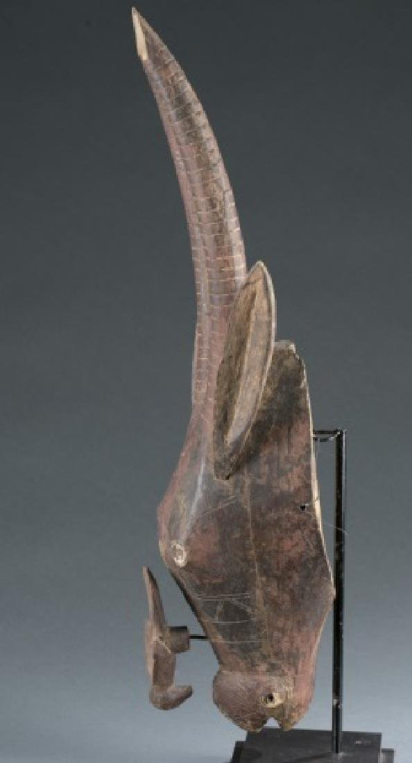 Antelope style headdress with carved bird figure. - 3