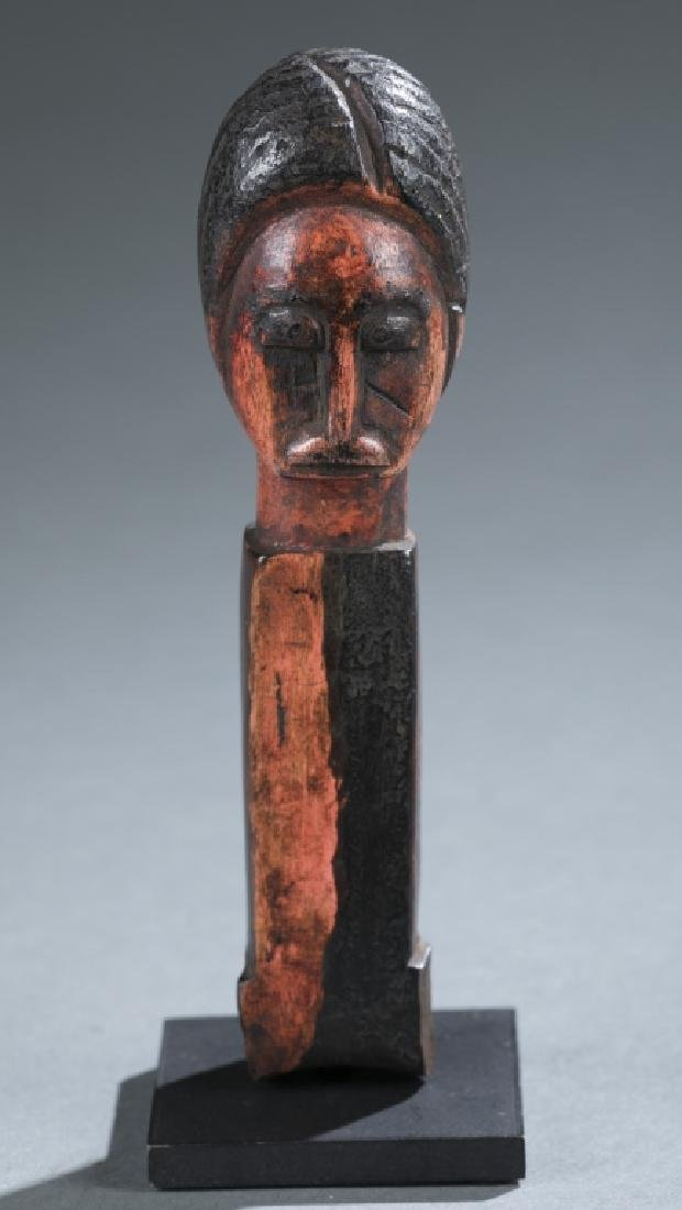 Akan style figural square post. c.20th century.