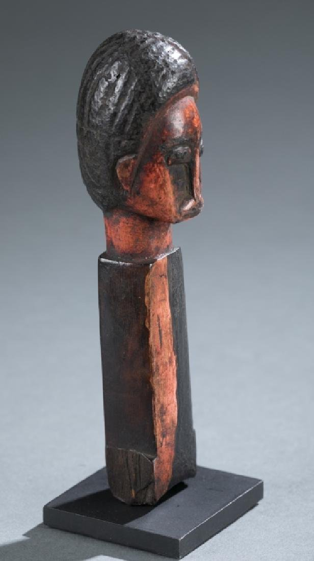 Akan style figural square post. c.20th century. - 2