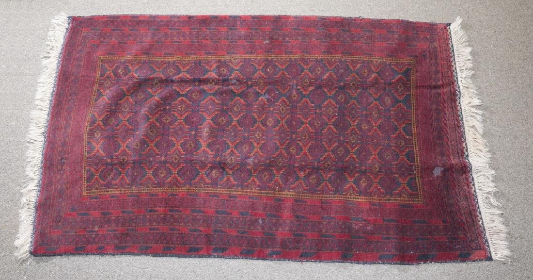 2 Afghan tribal turkarea rugs. c.20th century. - 6
