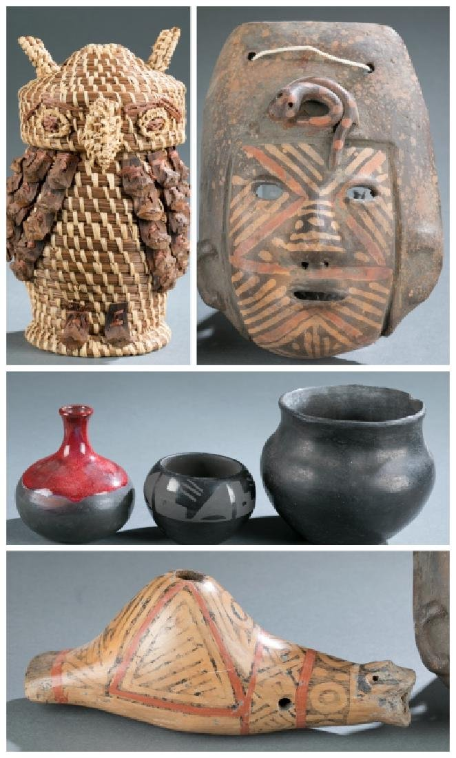 6 Native American style objects. c.20th century.