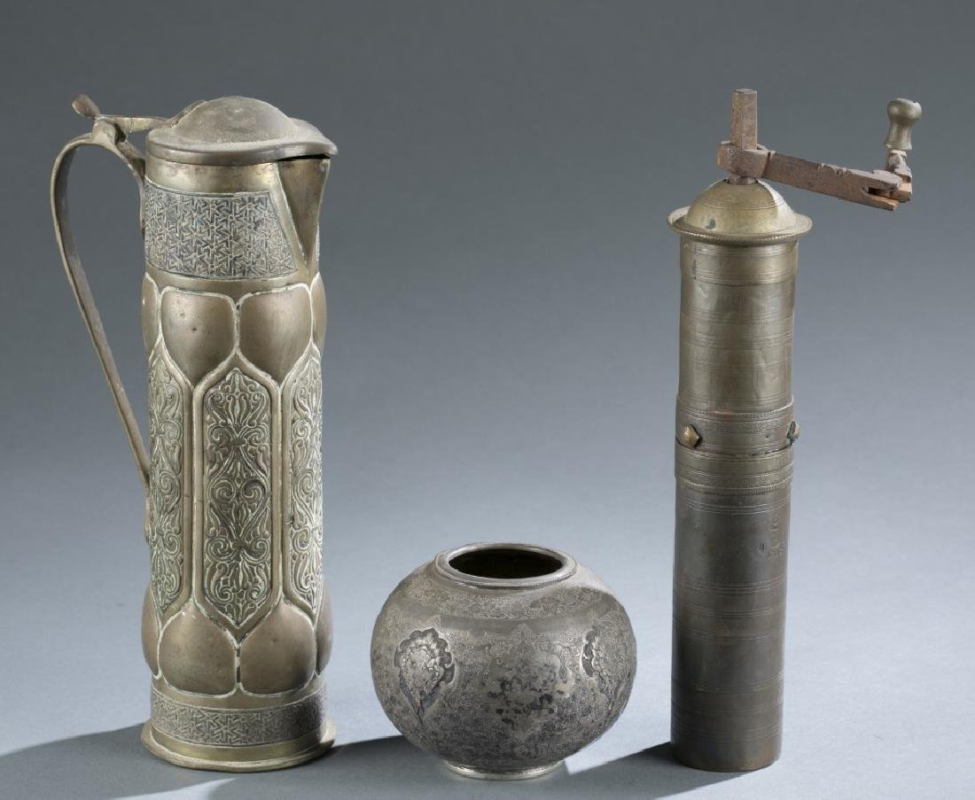4 brass African style ojects. c.20th century. - 8