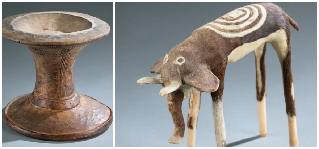 2 contemporary / folk African objects.