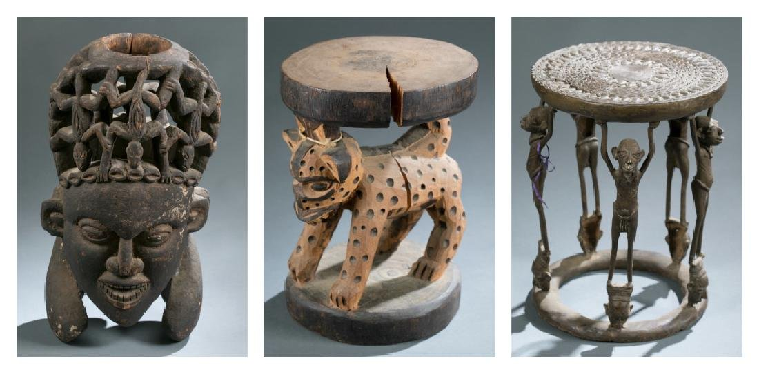3 Cameroon style objects. c.20th century.