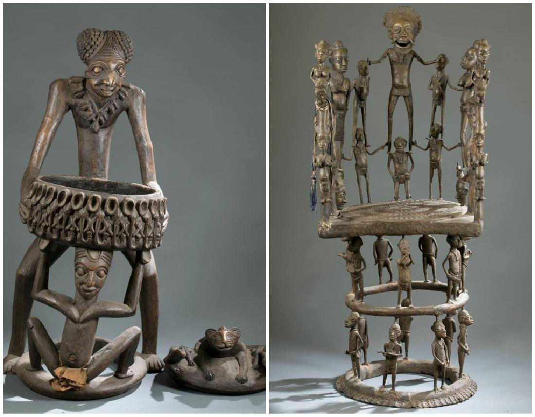 2 Cameroon style objects. c.20th century.