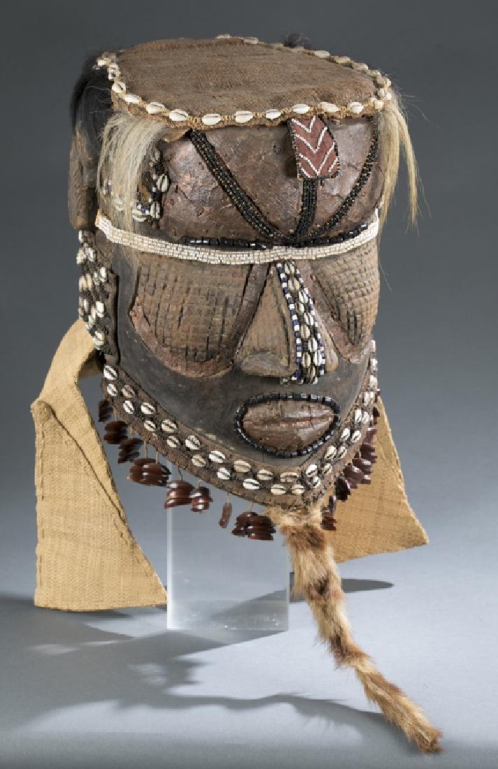 3 Kuba style helmet masks. c.20th century. - 2