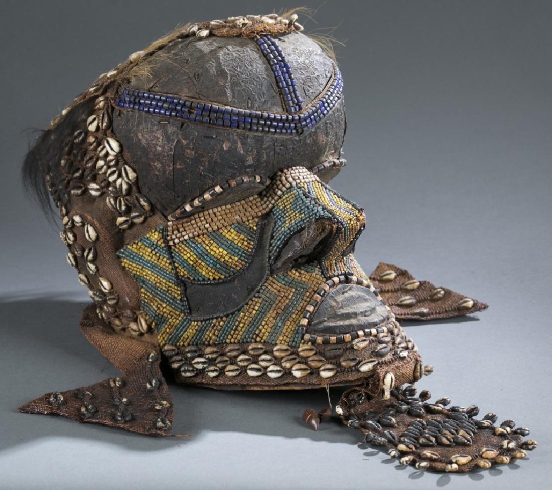 3 Kuba style helmet masks. c.20th century. - 7