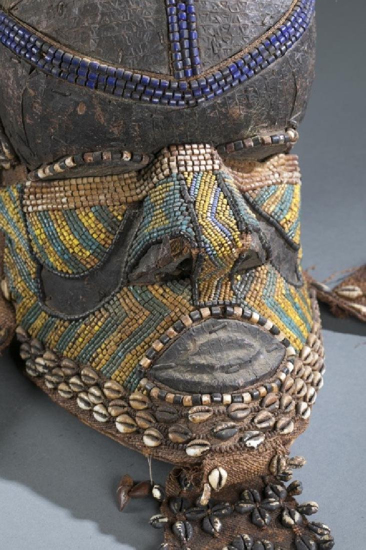 3 Kuba style helmet masks. c.20th century. - 8