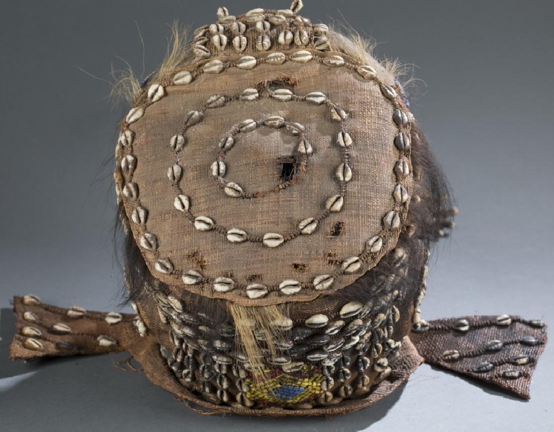3 Kuba style helmet masks. c.20th century. - 9