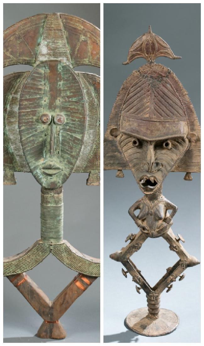 2 Kota reliquary objects. c.20th century.