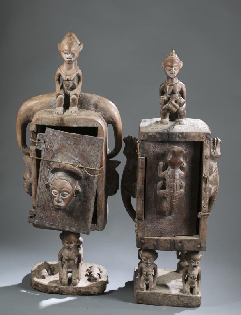 2 Gabon style sculptures. C.20th century.