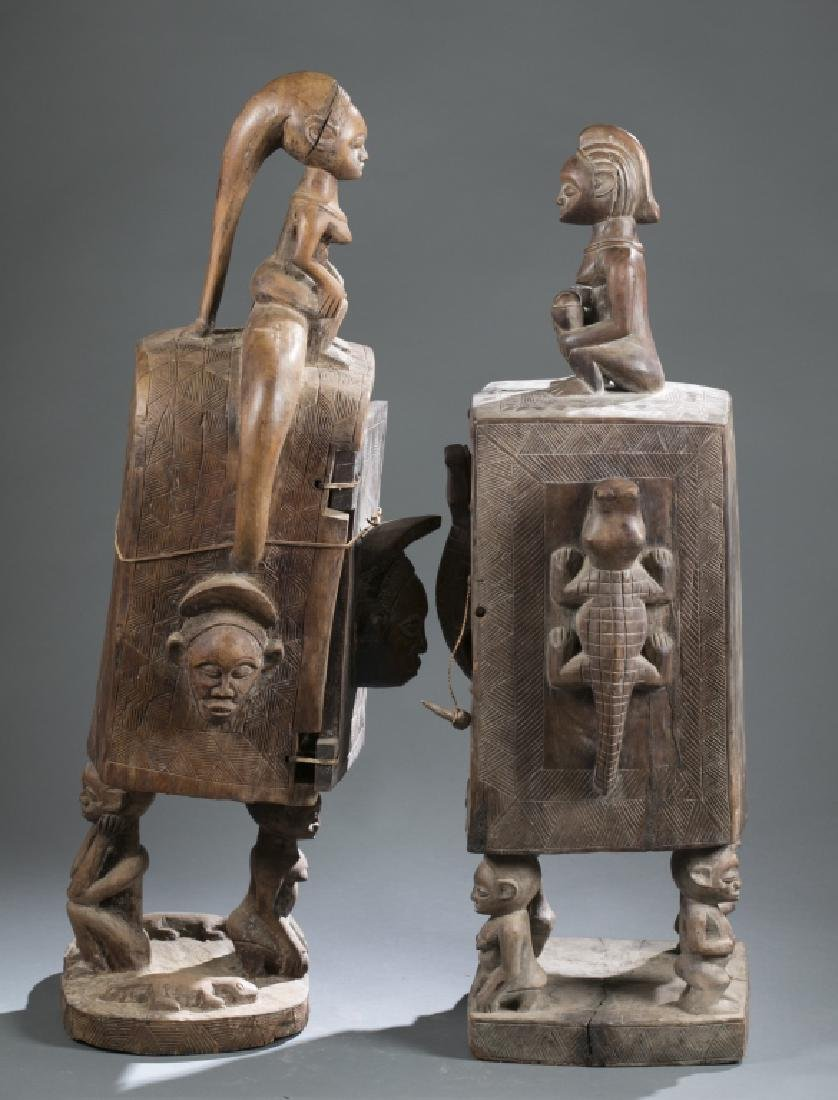 2 Gabon style sculptures. C.20th century. - 6