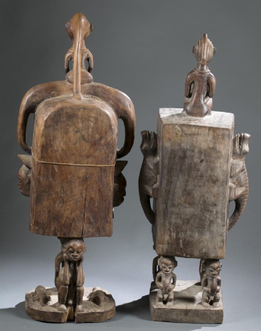2 Gabon style sculptures. C.20th century. - 7