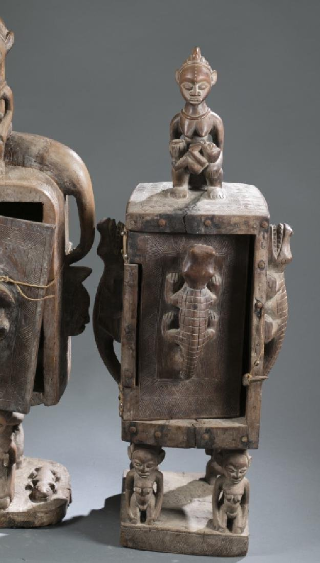 2 Gabon style sculptures. C.20th century. - 9