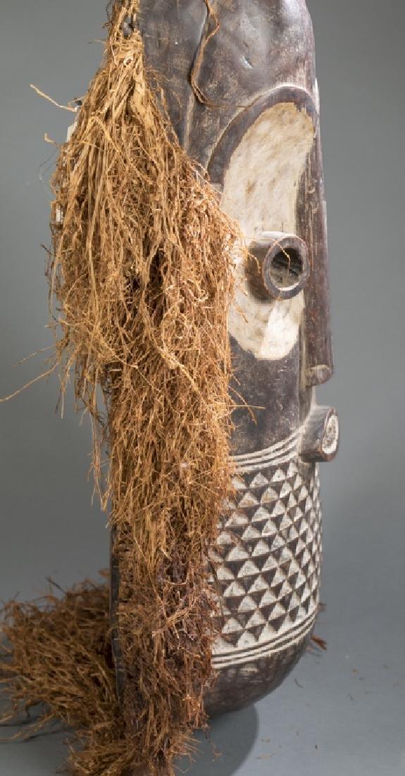 Congo style mask with raffia. C.20th. - 7