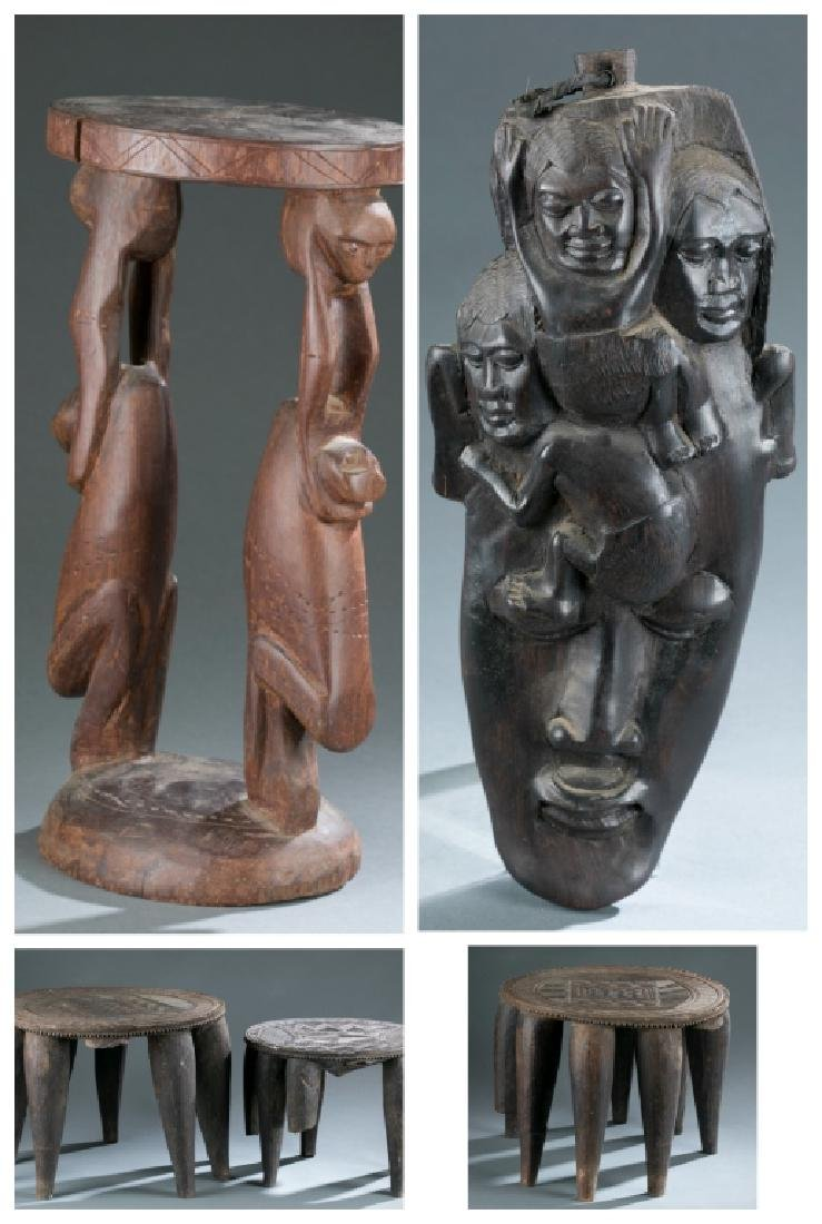 Group of 5 African style objects.