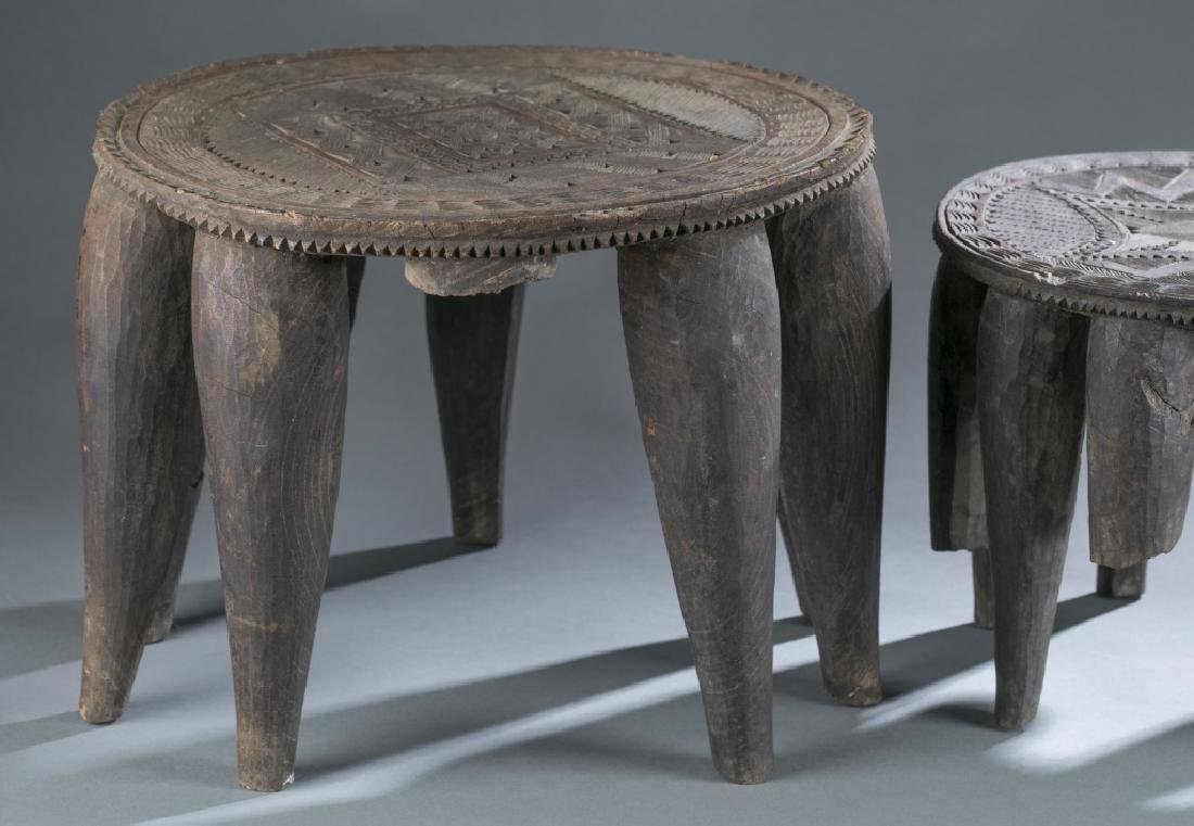 Group of 5 African style objects. - 7