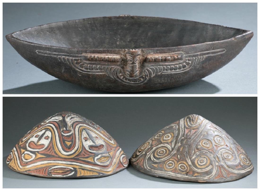 3 Sepik River style objects. c.20th century.