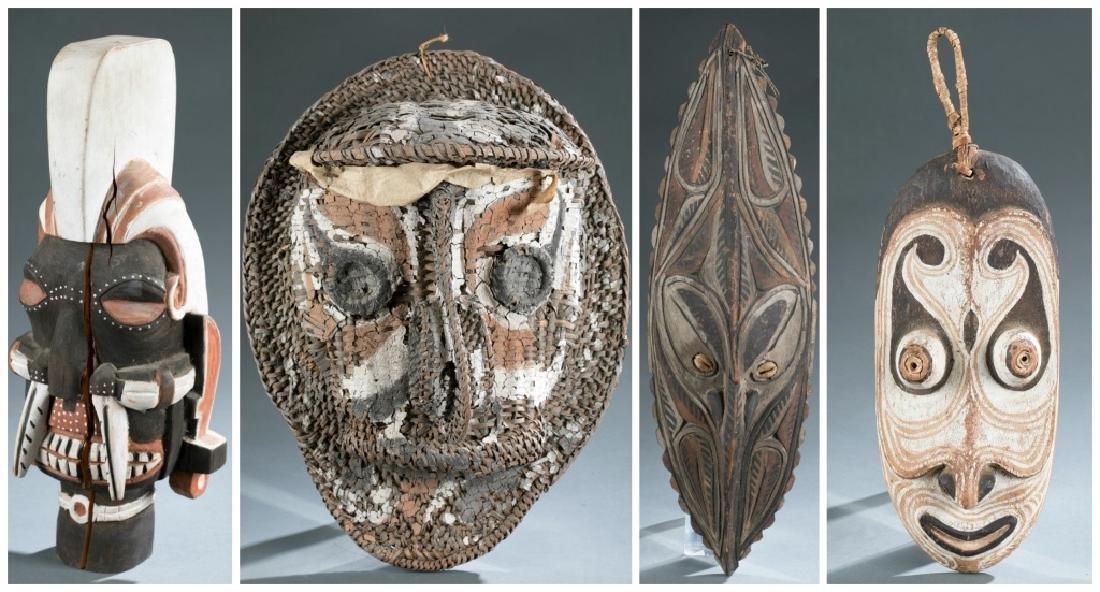 4 Sepik River style masks. c.20th century.