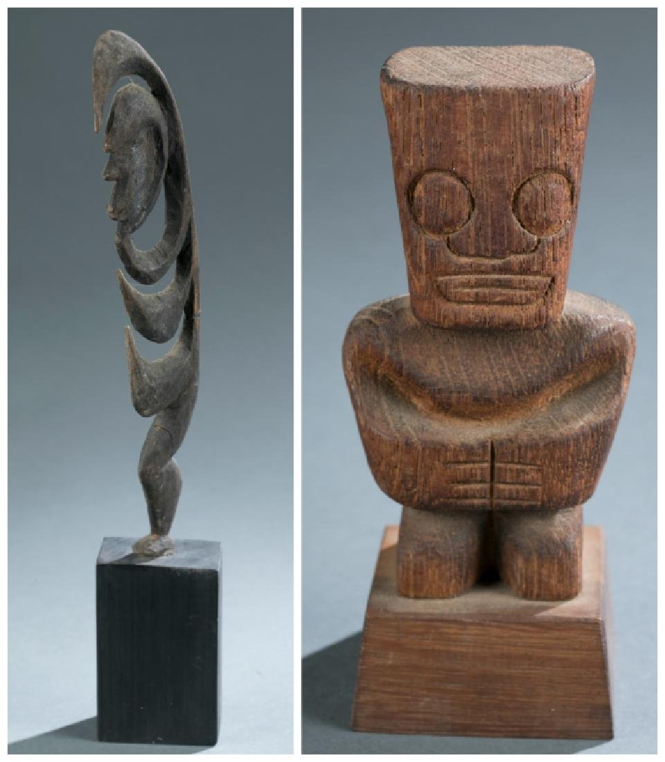 2 Oceanic style figures. c.20th century.