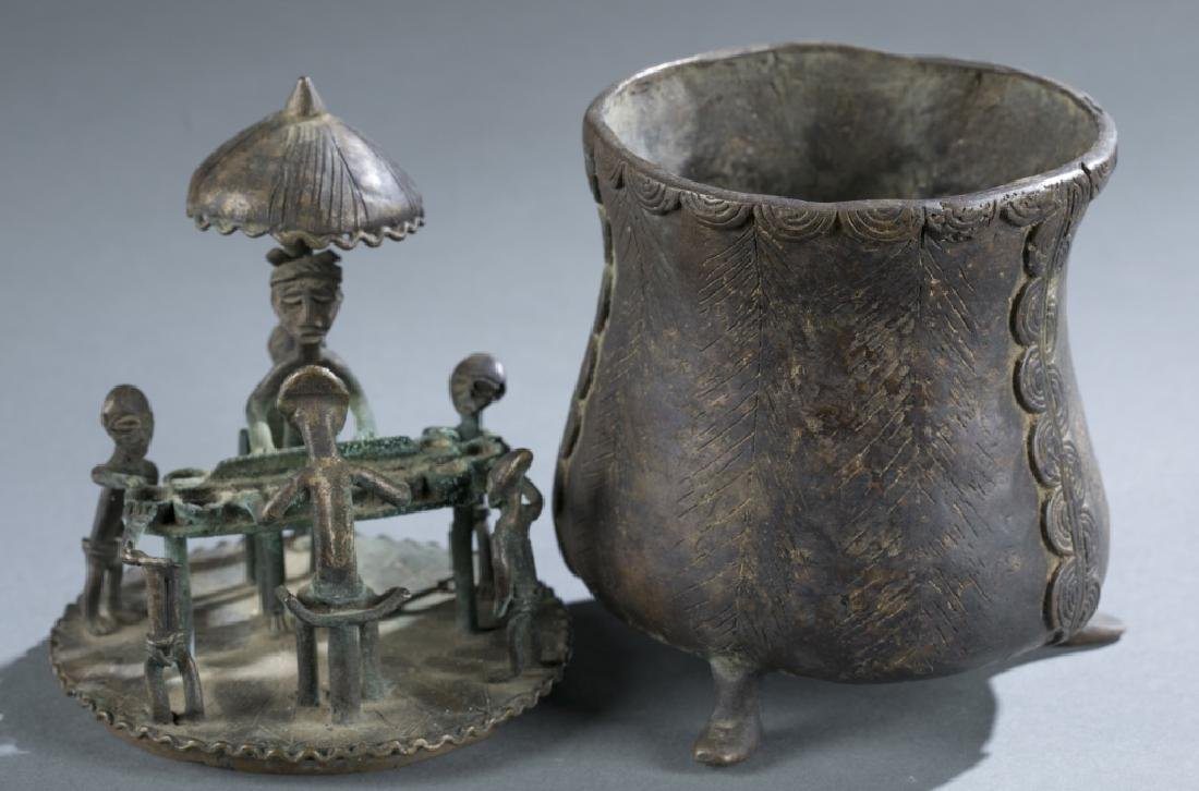 3 Asante style objects. c.20th century. - 9