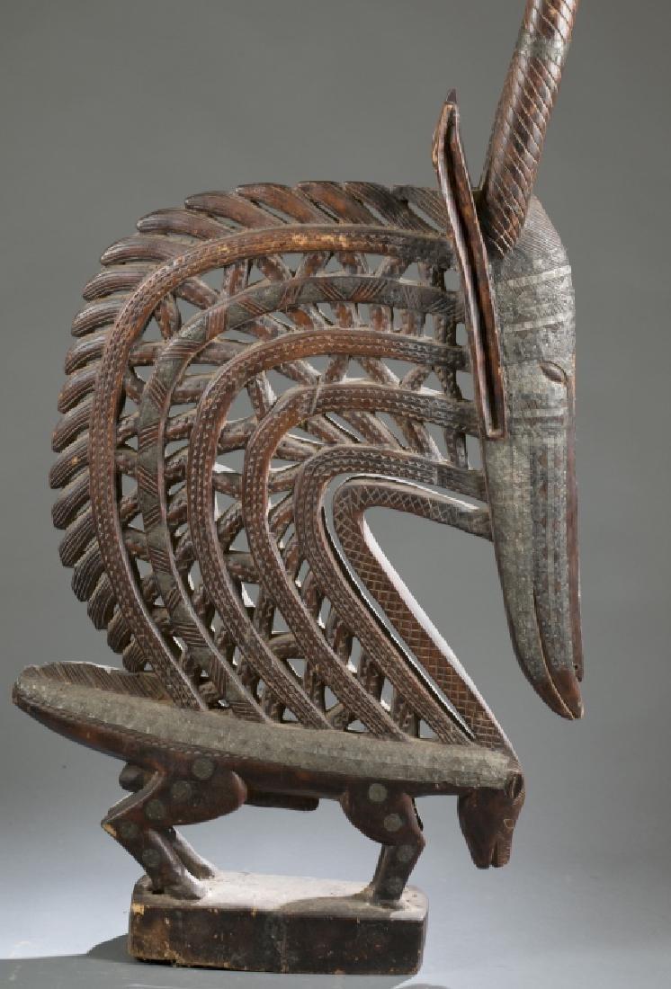 Male chiwara style Bamana headdress - 4