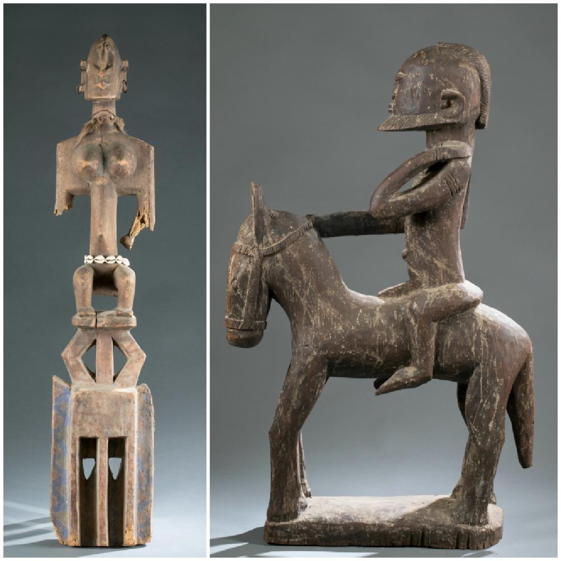 2 Dogon style figures. c.20th century.