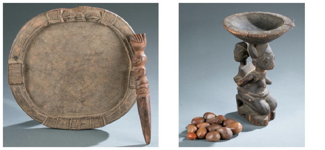 2 Yoruba divination objects. c.20th century.