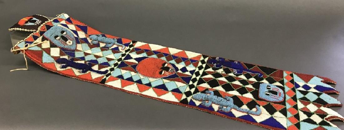 2 Yoruba style beaded panels. c.20th century. - 2