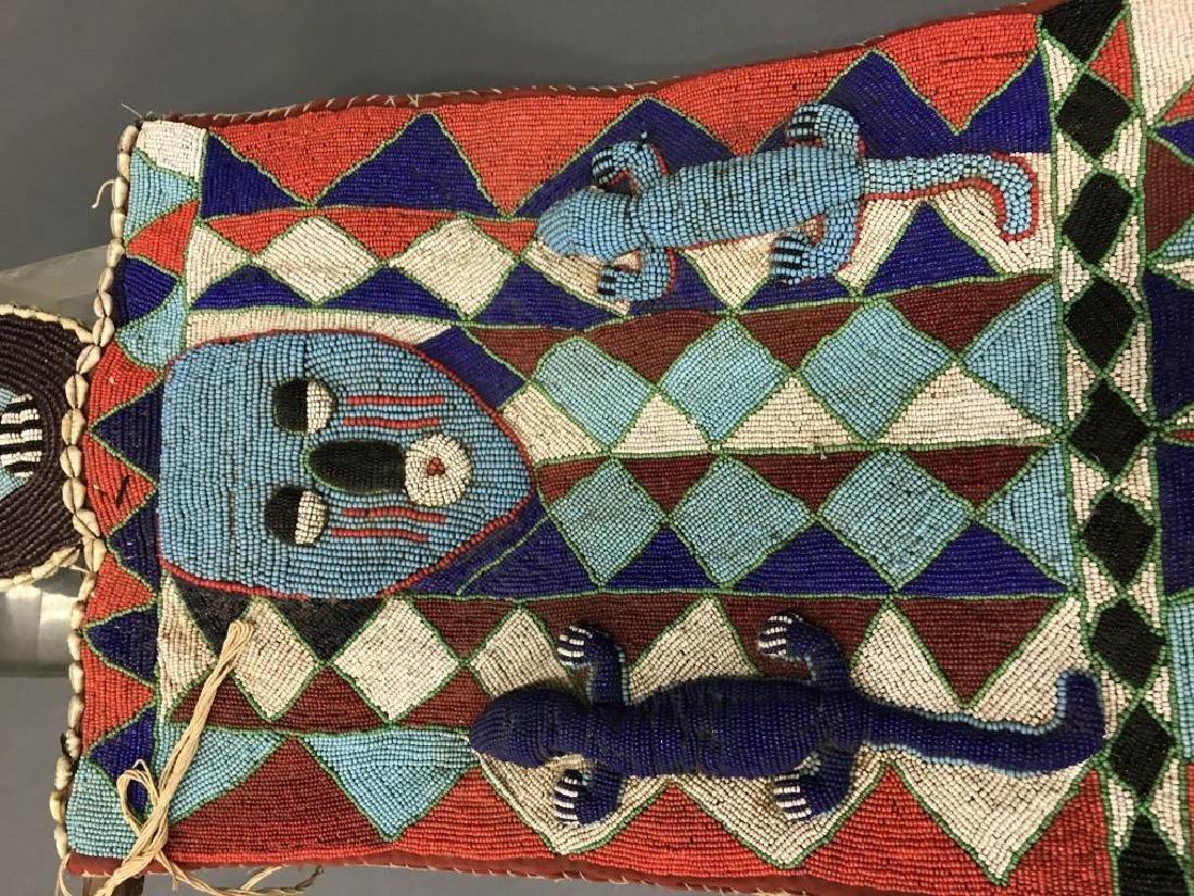 2 Yoruba style beaded panels. c.20th century. - 3