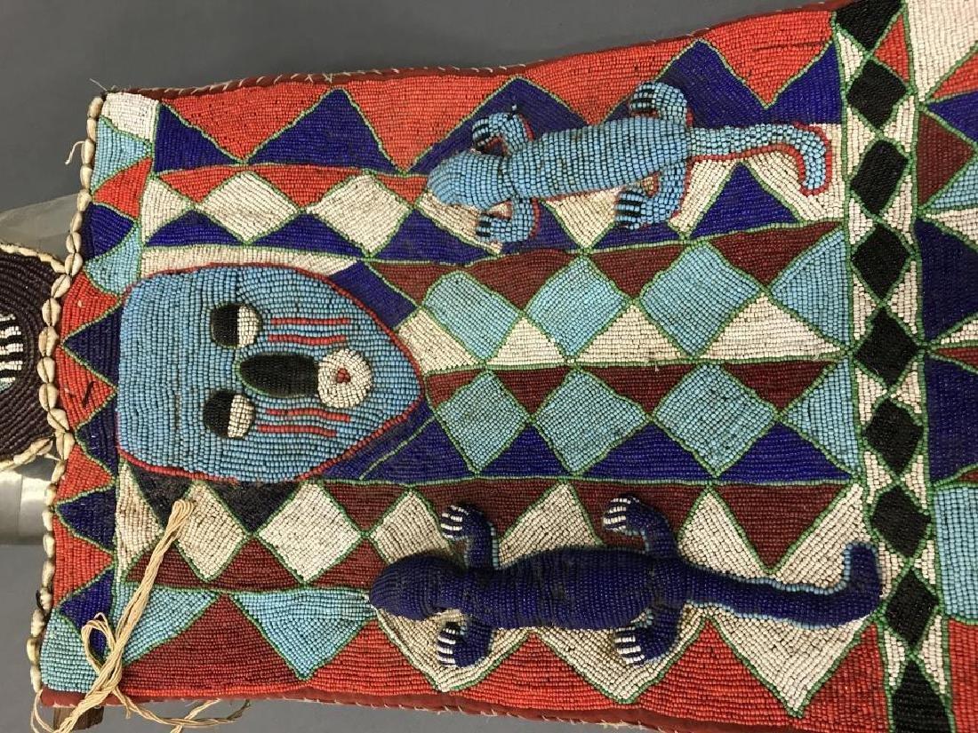 2 Yoruba style beaded panels. c.20th century. - 4