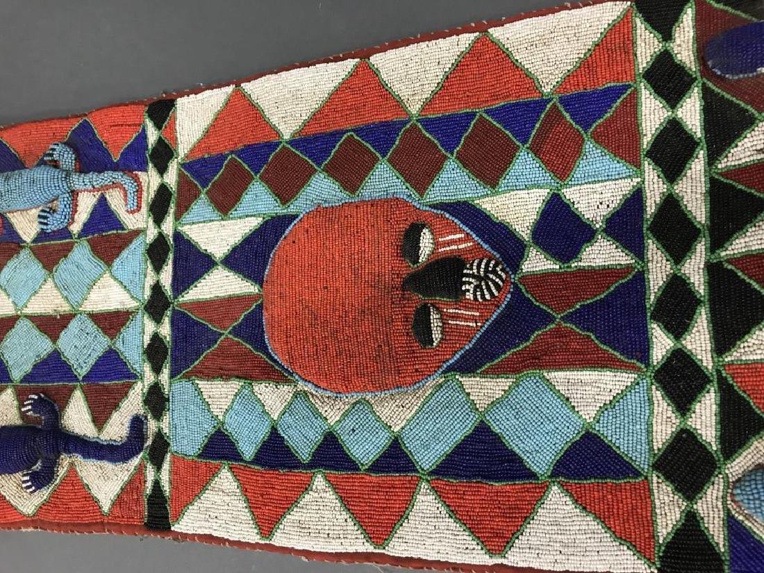 2 Yoruba style beaded panels. c.20th century. - 5