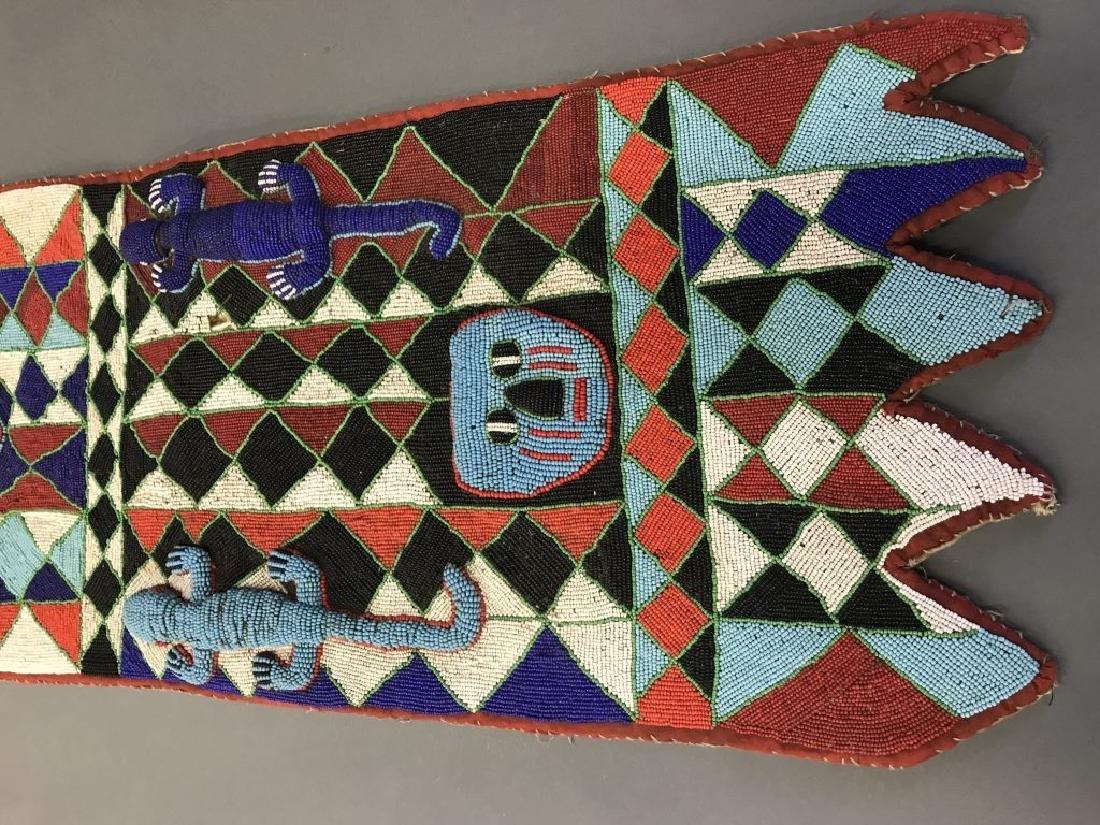 2 Yoruba style beaded panels. c.20th century. - 6
