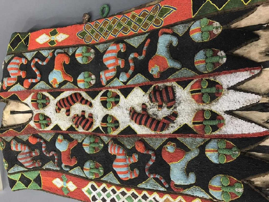 2 Yoruba style beaded panels. c.20th century. - 8