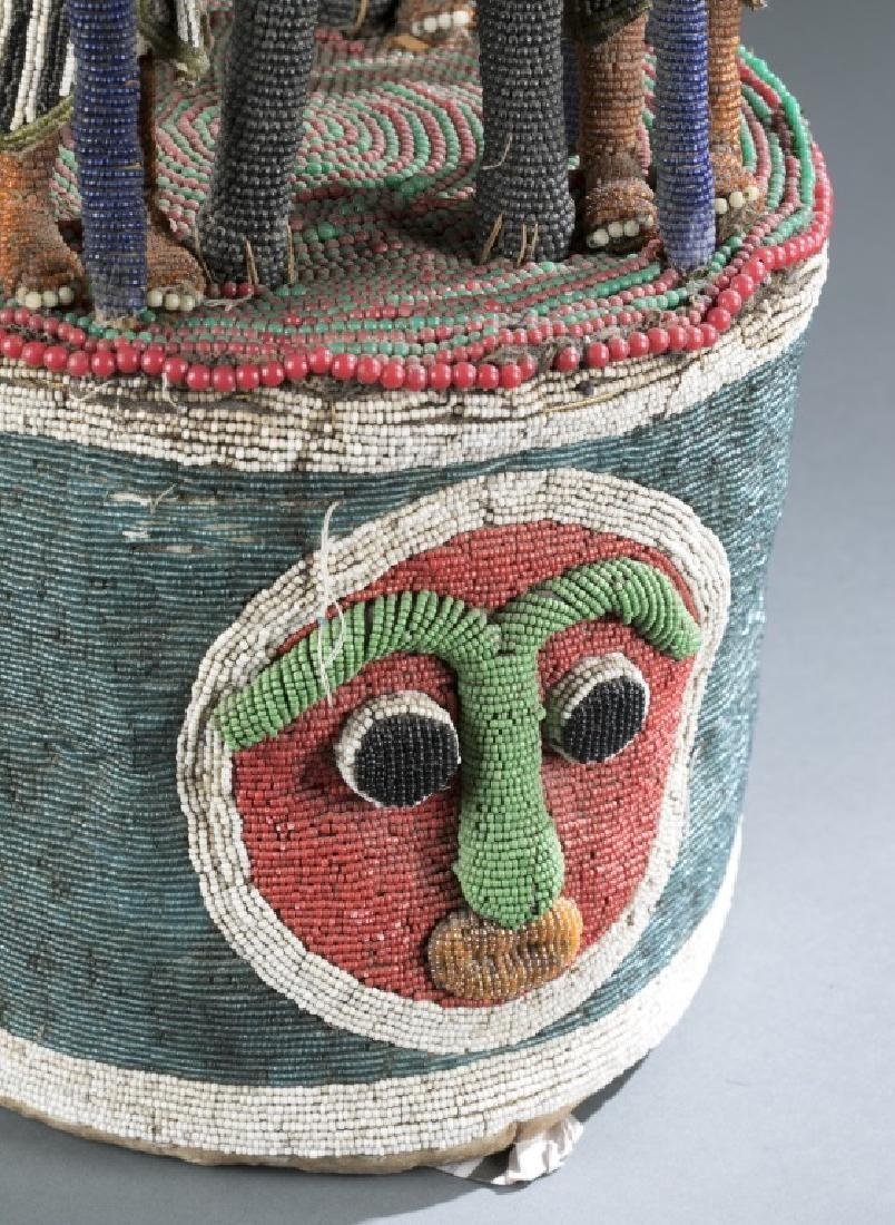 2 Yoruba style beaded objects. c.20th century. - 4