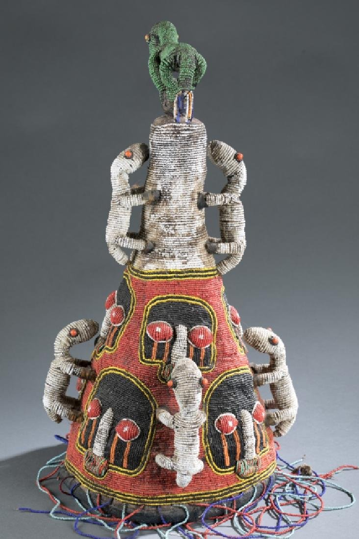 2 Yoruba style beaded objects. c.20th century. - 9