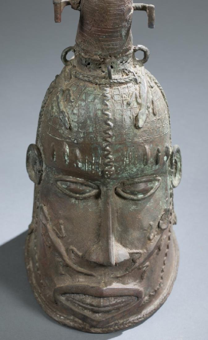 2 Nigerian Brass heads. c.20th century. - 2