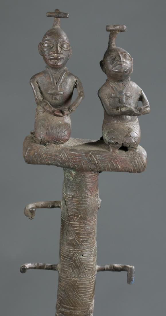 2 Nigerian Brass heads. c.20th century. - 3